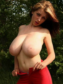 Skinny girl huge natural boobs